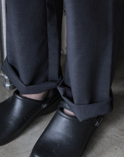 Linen Chef Pants Charcoal #AP1566