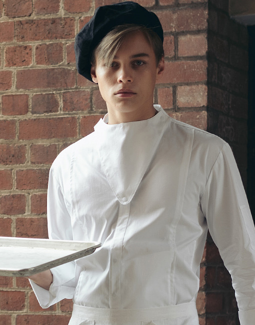 Triangle Bib chef coat #AJ1885