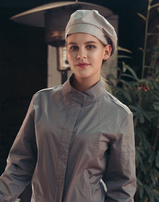 Menage cotton chef beret # AH1870 gray